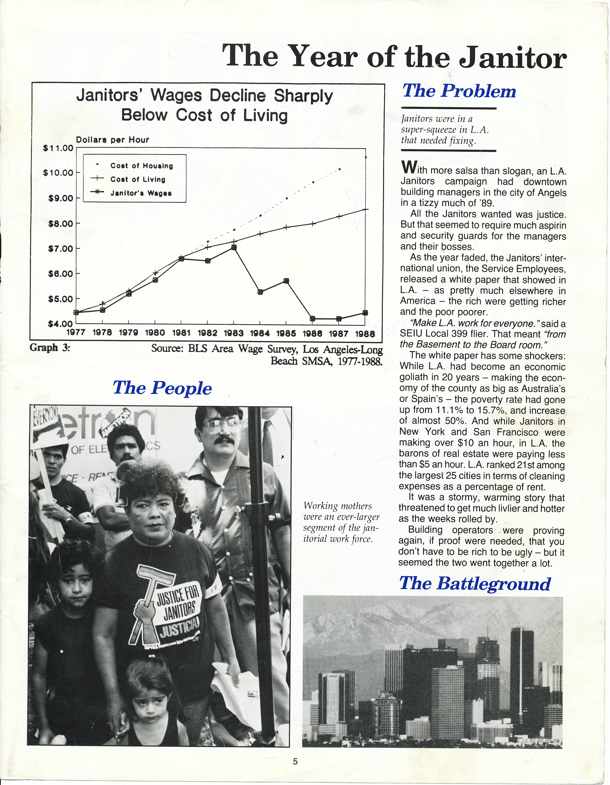 TBT to 1990: Justice for Janitors March – California Labor
